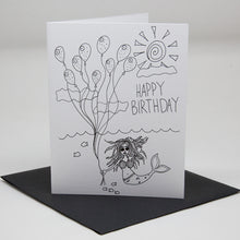 Load image into Gallery viewer, Birthday Mermaid Card