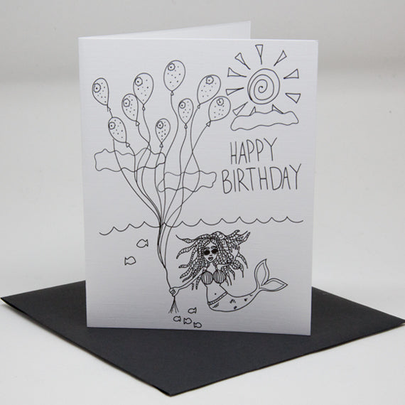 Birthday Mermaid Card