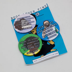 Book Lover Pin Set