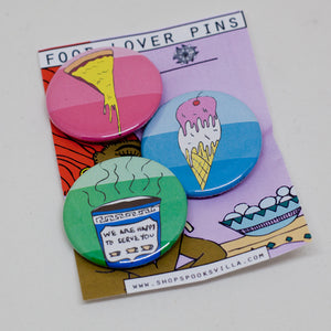 Food Lover Pin Set