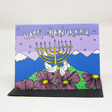 Load image into Gallery viewer, Hanukkah Bird Card
