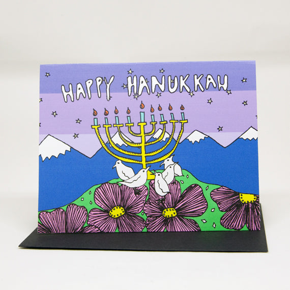Hanukkah Bird Card