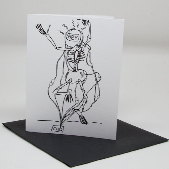 Hey Skeleton Card