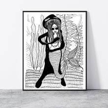 Load image into Gallery viewer, Mermaid Monster Print