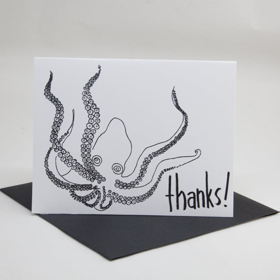 Octopus Thanks Card