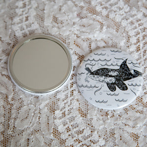 Whale Pocket Mirror