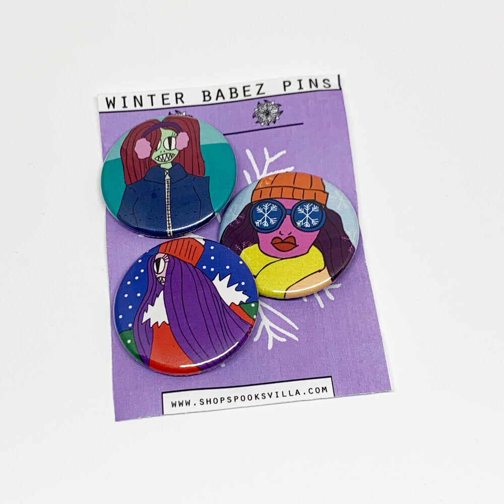 Winter Babez Pin Set