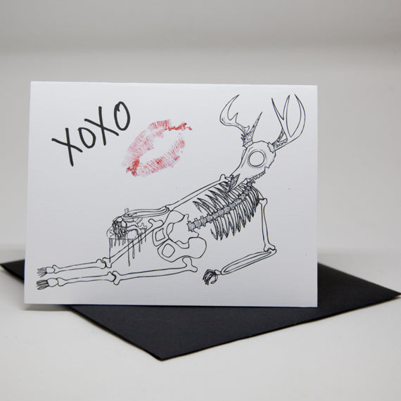 XOXO Deer Love Card