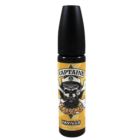 Captains Creams Vanilla 50ml shortfill E-liquid