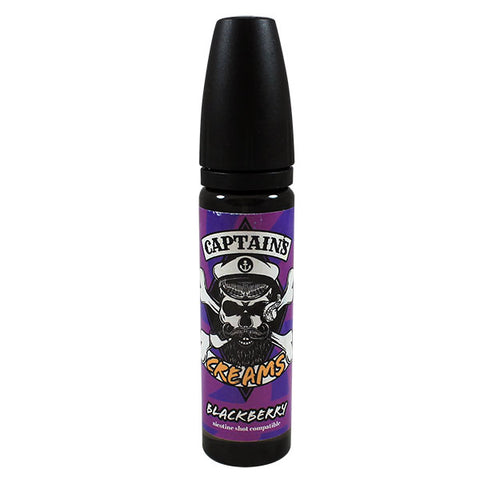 Captains Creams Blackberry 50ml Short Fill