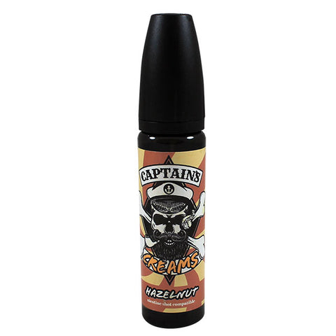 Captains Creams Hazelnut 50ml Short Fill
