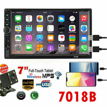 Auto Bluetooth Stereo GPS FM Radio MP5 plus Rear Camera- 7 in Screen