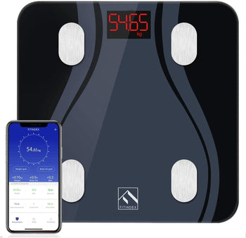 Smart Bluetooth Body Fat Scale with Upgraded App, High Precision Bathroom Scales Digital Weight and Body Fat Body Composition Monitor