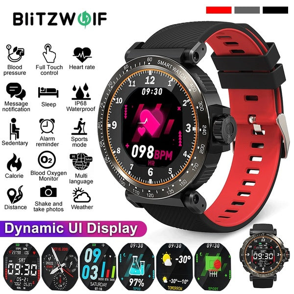 Smart Watch Full Screen Heart Rate Blood Pressure Oxgn WEATHER USA