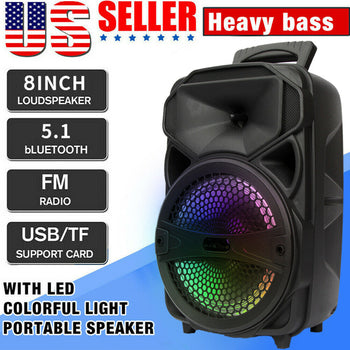 Bluetooth Speaker Subwoofer Heavy Bass Sound System Party 8