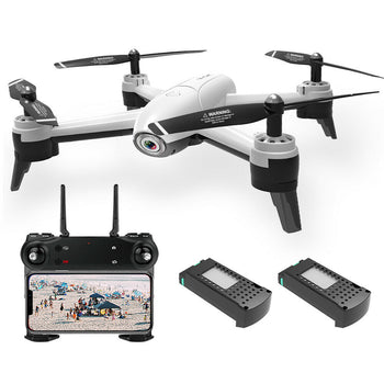 Drone Dual Camera 1080P Wide Angle Wifi FPV Quadcopter With 2 Battery