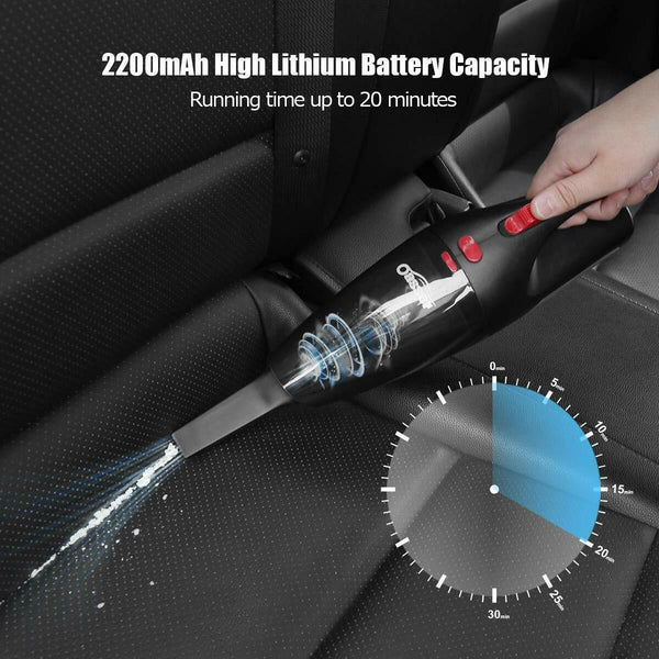 Vacuum-Handheld Vac Wet-Dry Bagless 12V  Clean Car or Boat