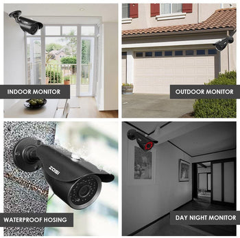 Security Camera Home System HD 8CH H.265 5MP Lite DVR 1080P IR Outdoor