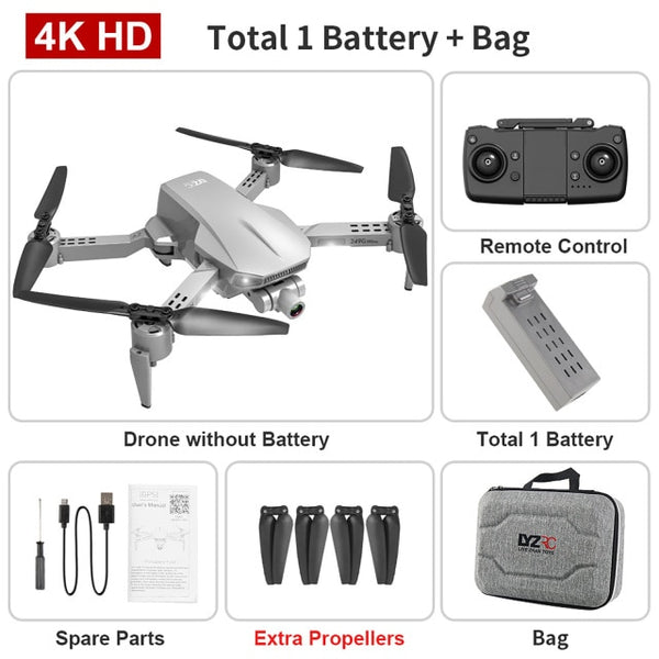 lll Pro Mini Drone with 2-axis Stabilizer Gimbal Camera Drone 4K 5G WIFI GPS Optical Flow Positioning Quadcopter