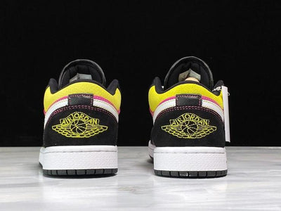 "Air Jordan 1 Low ""Black Active Fuchsia Cyber"" - Fazye"