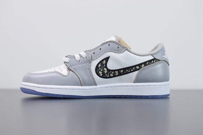 "Air Jordan 1 Low x Dior ""Grey"" - Fazye"