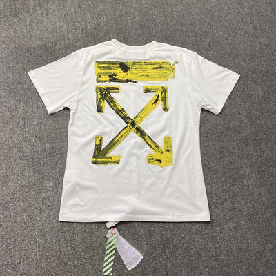 OFF-WHITE Oversized Acrylic Arrows S/S T-Shirt White/Yellow - Fazye