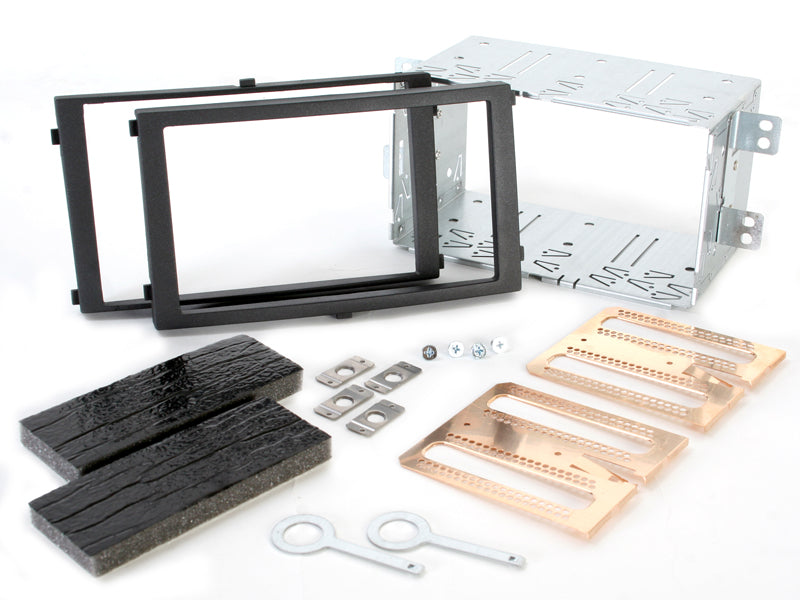 Radio bezel SSANGYONG Rexton II from 2006 2DIN black installer kit