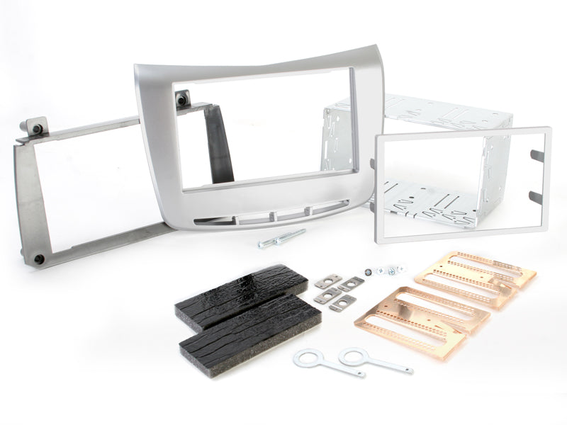 Radio bezel LANCIA Delta from 2009 2DIN silver installer kit