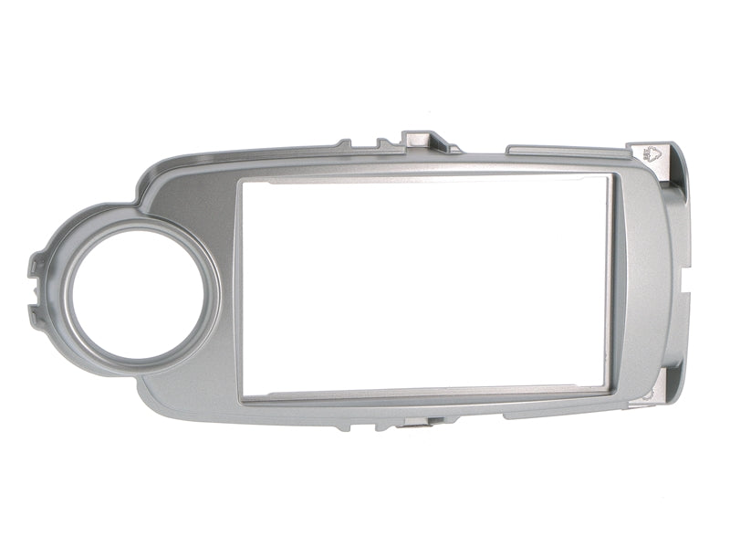Radio cover TOYOTA Yaris (XP13) from 2011-17 2DIN silver