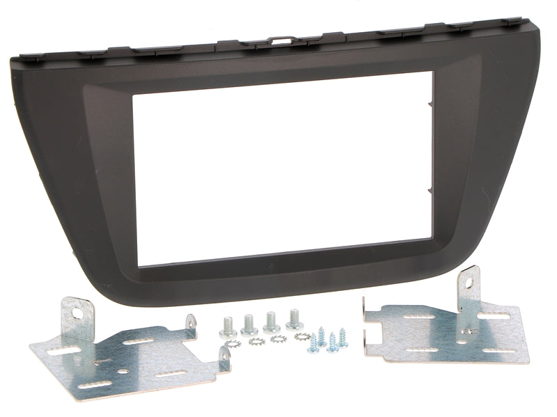 Radio bezel SUZUKI SX4, S-CROSS from 2013 2DIN dark gray installer kit