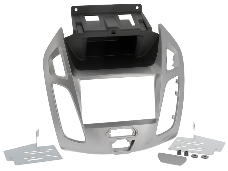 Radio cover FORD Tourneo Connect, Transit Connect from 2013 2DIN silver gray