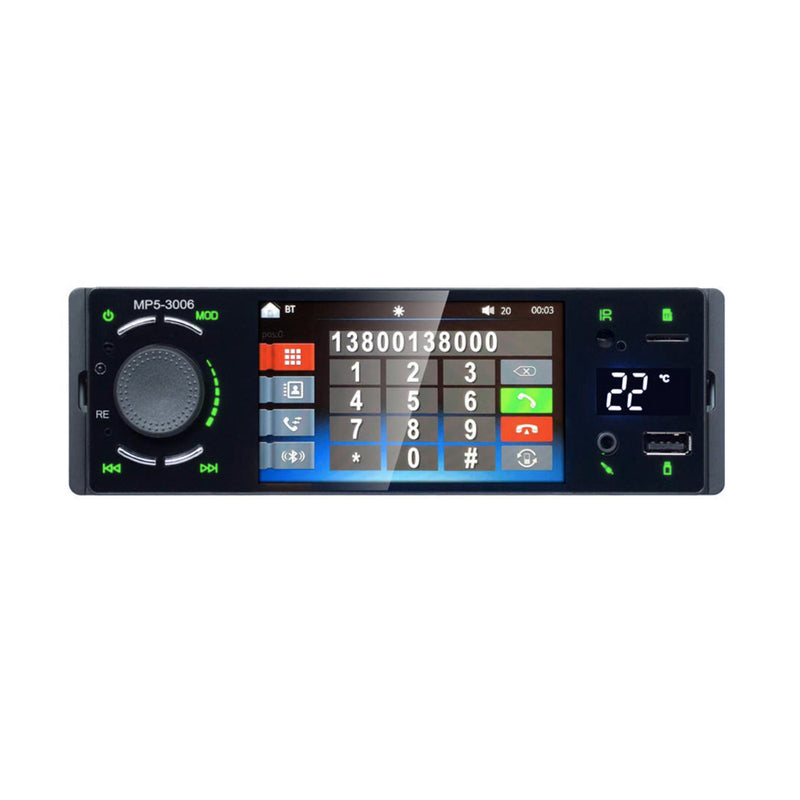 "Universal 1 DIN Car Stereo With 4"" Screen 