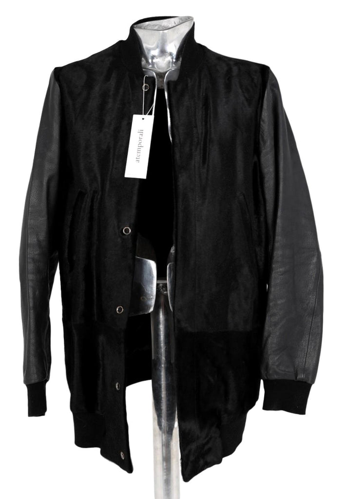 Men's Paul Smith Calf Hair Leather Jacket - atemporali