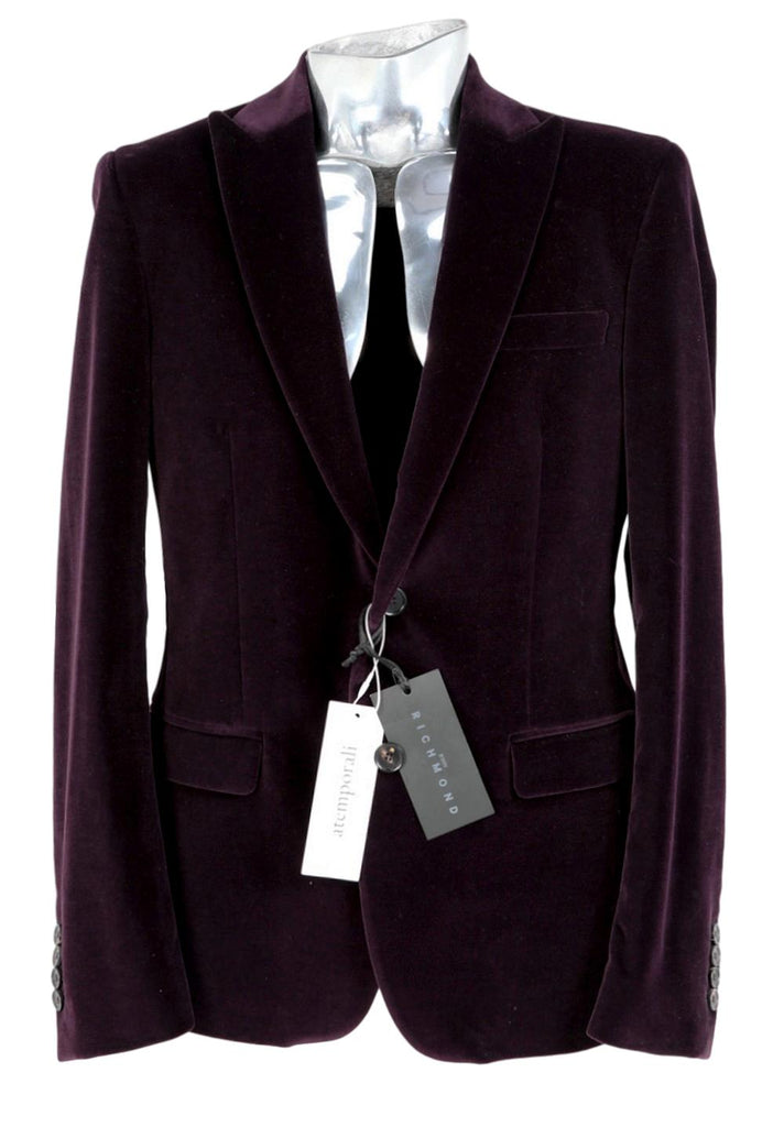 Men's John Richmond Velvet Blazer Jacket - atemporali
