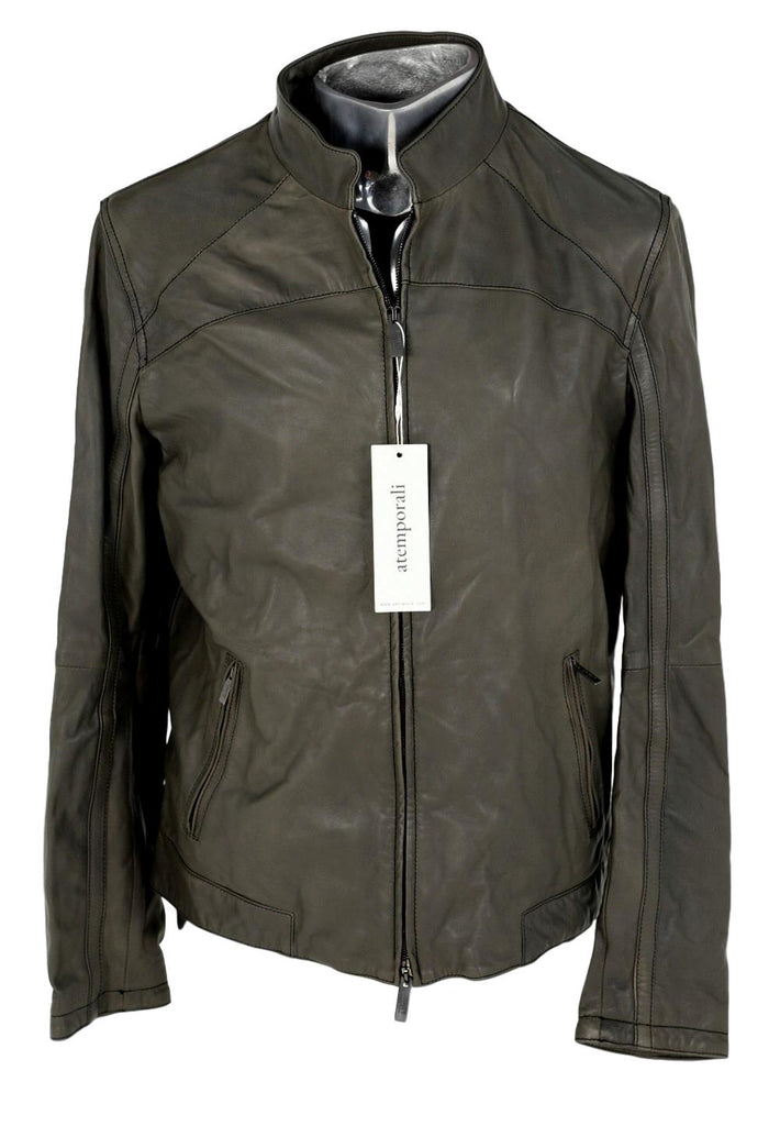 Men's Armani Collezioni Panel Leather Jacket - atemporali