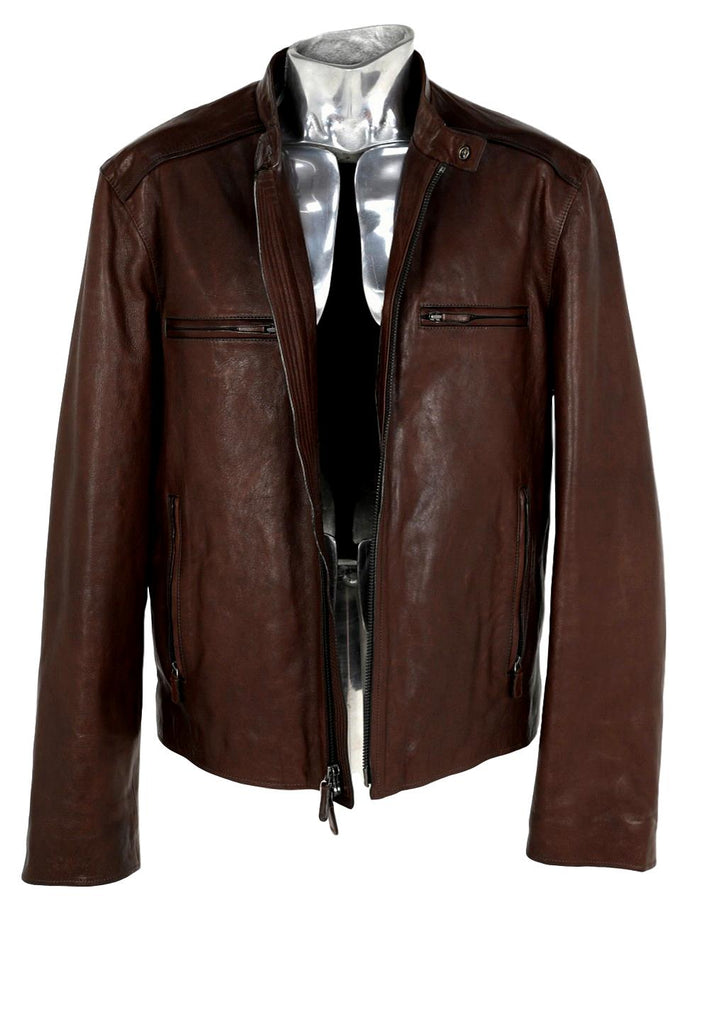 Men's Coach Box-cut Leather Jacket - atemporali