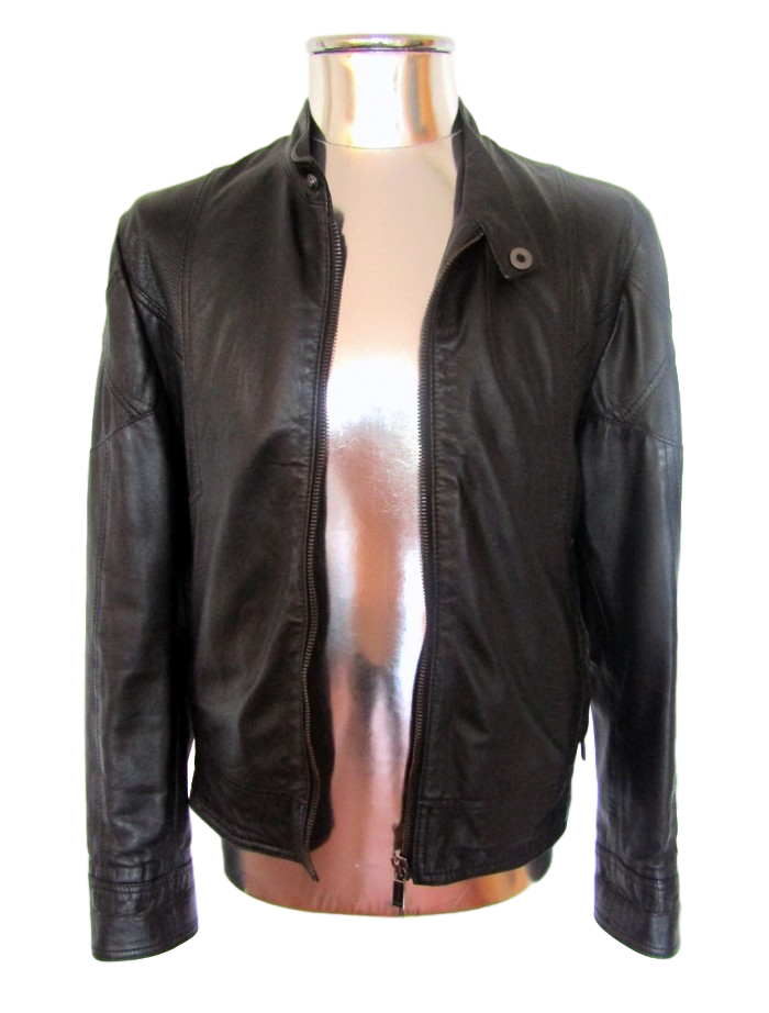 Men's Dirk Bikkembergs Perforated Leather Jacket - atemporali