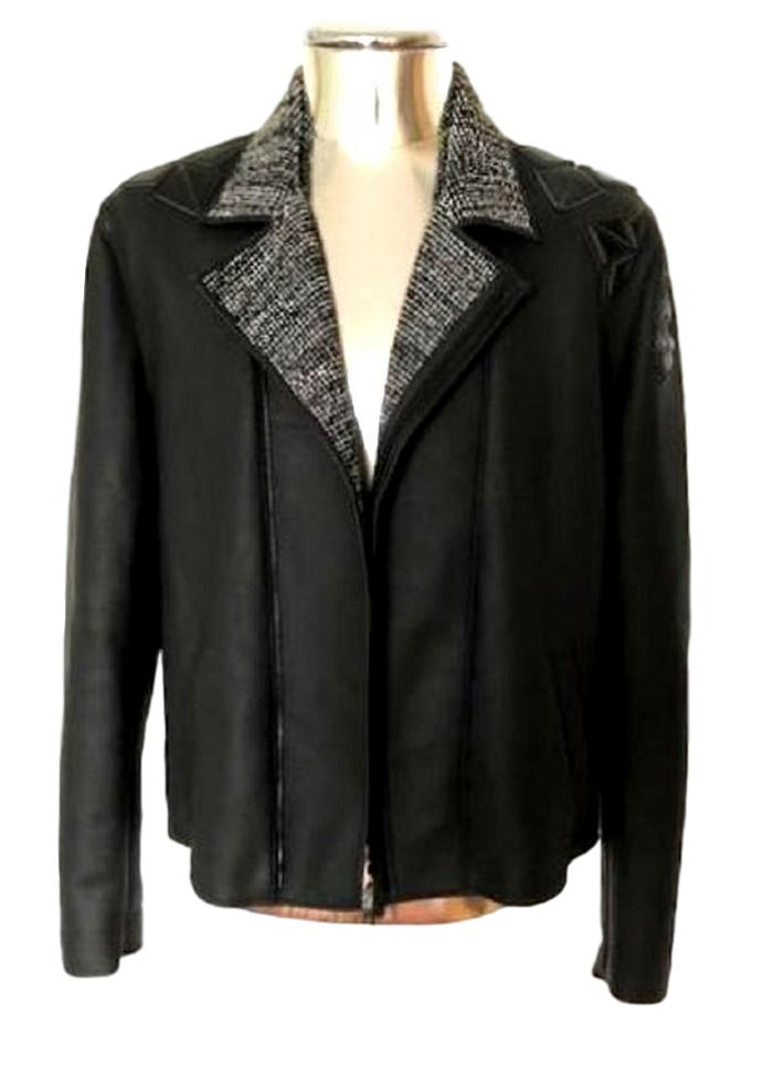Men's Emporio Armani Leather Biker Jacket - atemporali