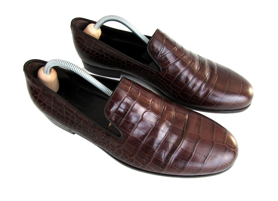 Men's Giorgio Armani Crocodile Leather Shoes - atemporali