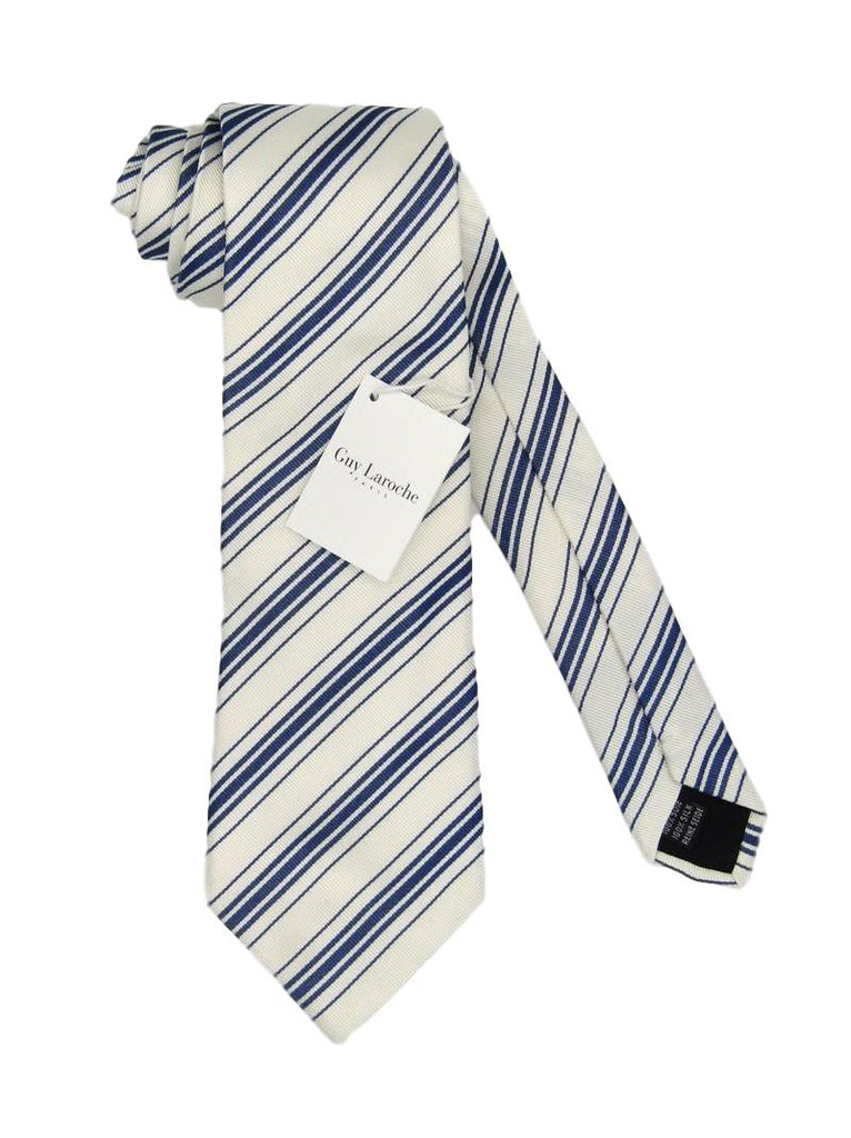 Men's Guy Laroche Paris Stripe Silk Tie - atemporali