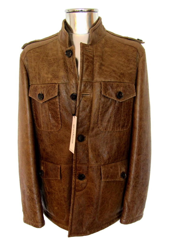 Men's Hugo Boss Shearling Leather Jacket - atemporali