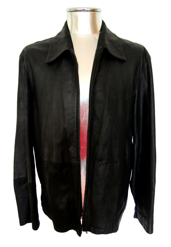 Men's Hugo Boss 'Lowis' Leather Jacket - atemporali