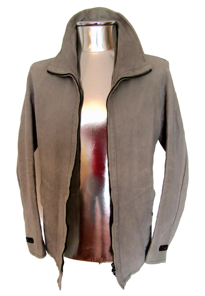 Men's Isaac Sellam Funnel Neck Leather Jacket - atemporali