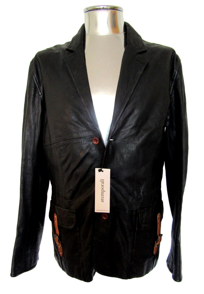 Men's Paul Smith Leather Blazer Jacket - atemporali