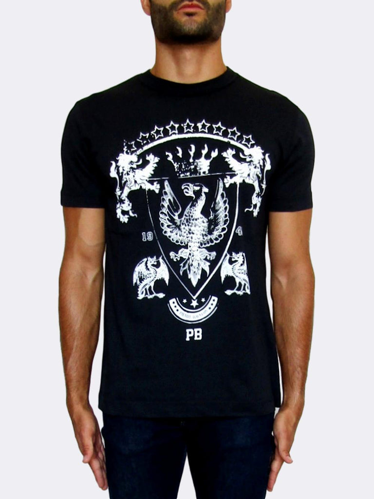 Men's Pierre Balmain Crew Neck Blue T-shirt - atemporali