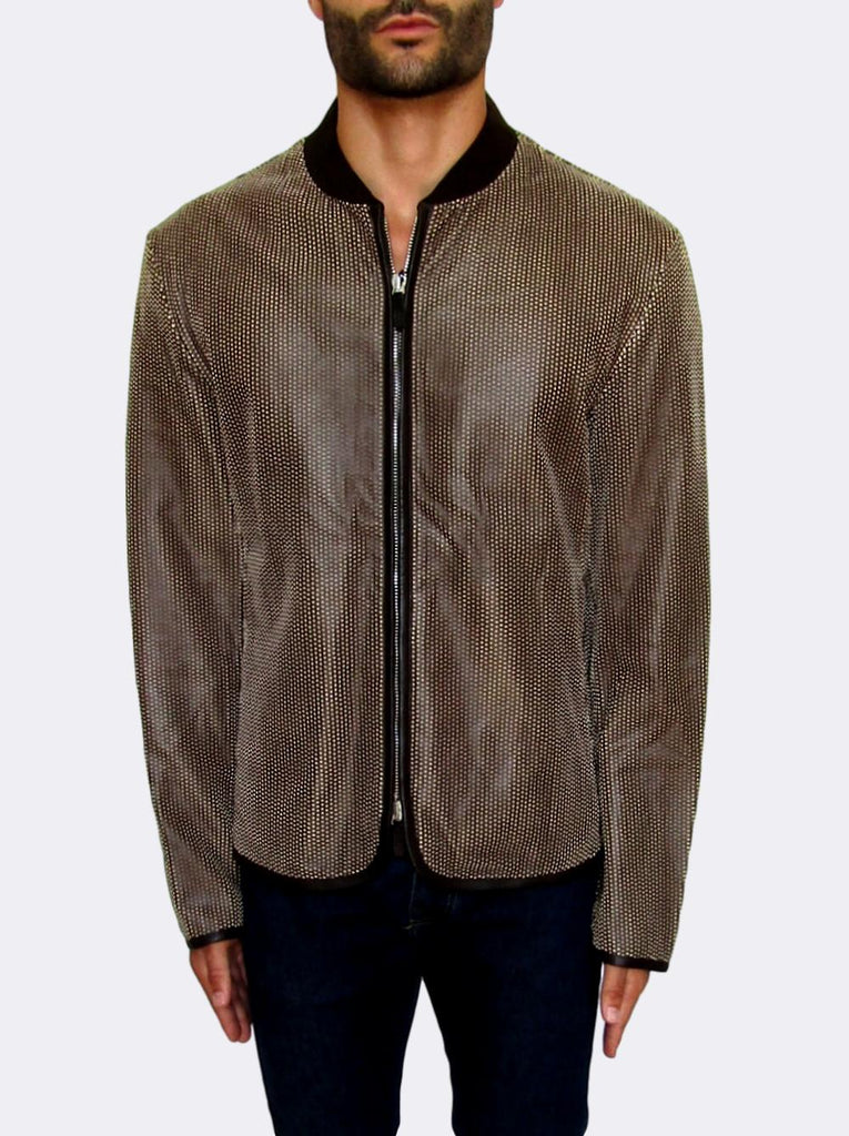 Men's Giorgio Armani Perforated leather Jacket - atemporali