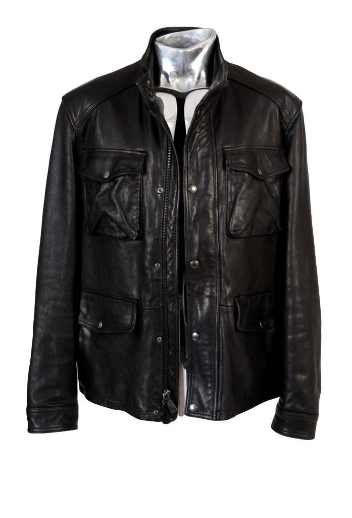 Men's Coach Heavy Leather Field Jacket - atemporali