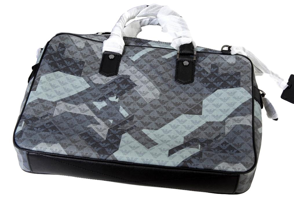 Men's Emporio Armani Camouflage Leather Bag - atemporali