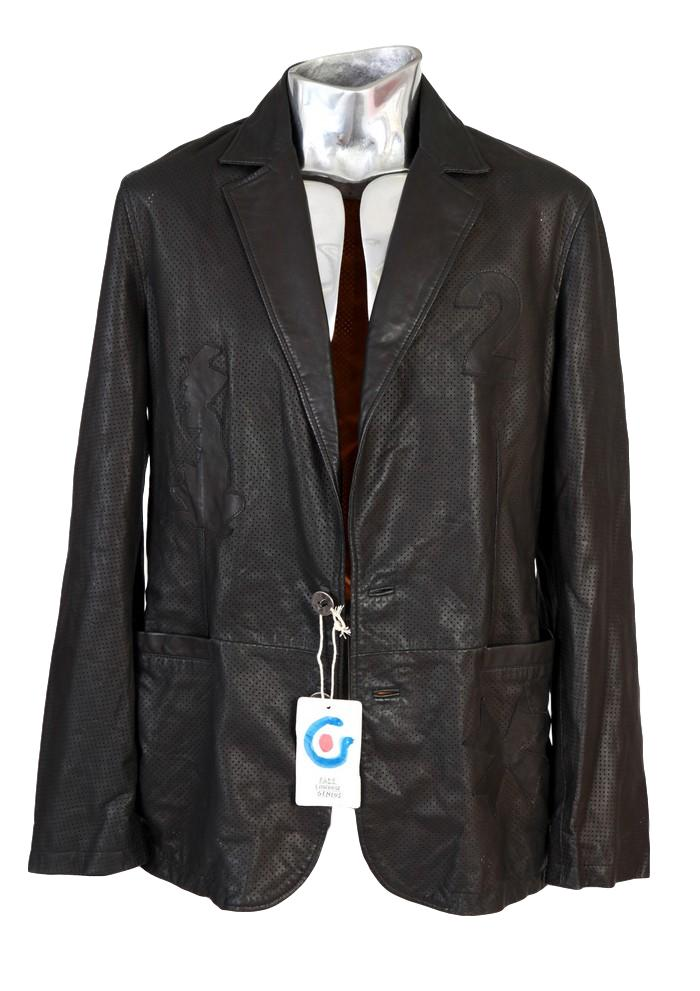 Men's Fake London Perforated Leather Jacket - atemporali