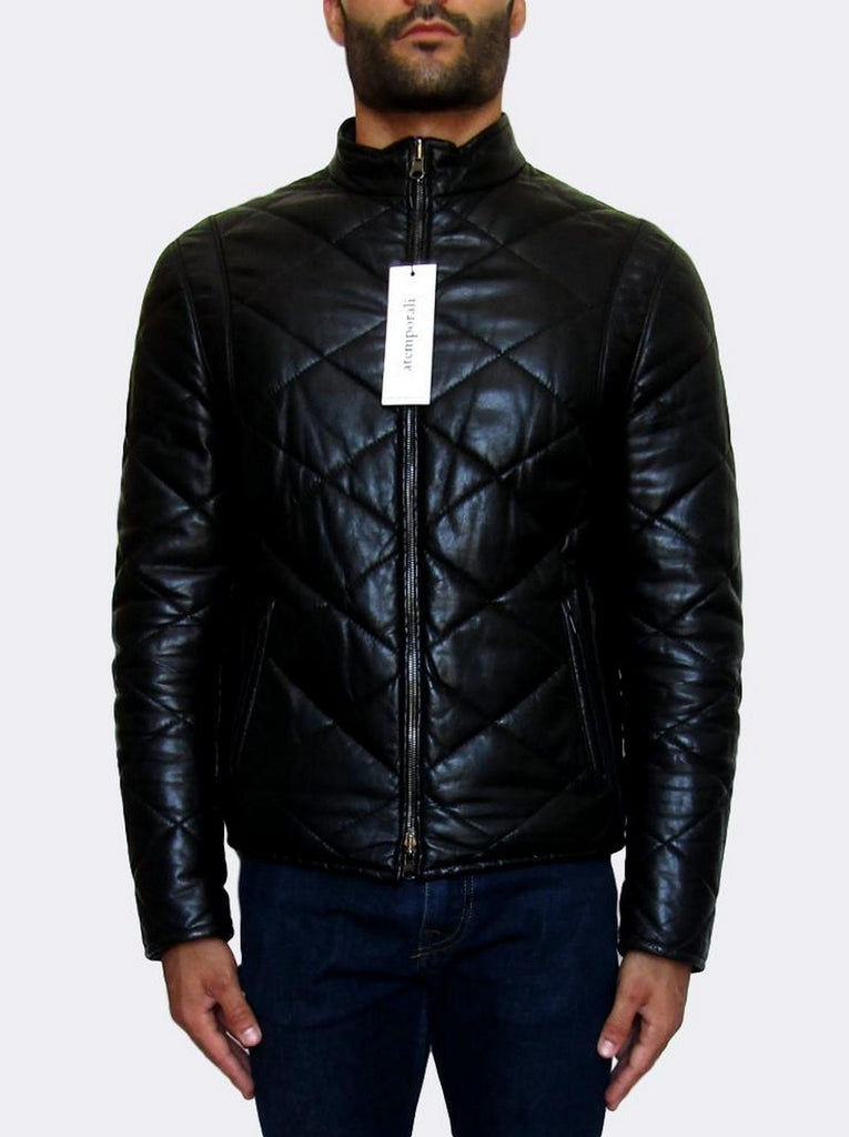 Quilted Reversible Leather Jacket